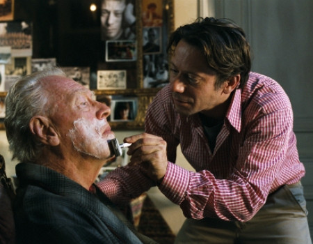 """Max Von Sydow and Mathieu Amalric in """"The Diving Bell and the Butterfly."""""""