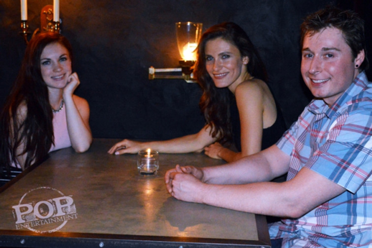 Airen DeLaMater, Lili Bordán and Jody Quigley at the Apparition after party at the Doylestown Inn, Doylestown, PA on June 14, 2015.