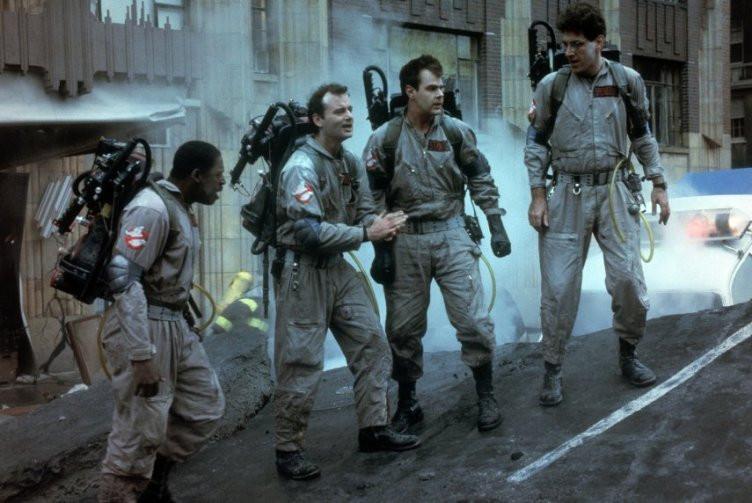 Ernie Hudson, Bill Murray, Dan Aykroyd and Harold Ramis in 'Ghostbusters.'