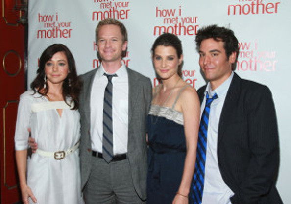 Alison Hannigan, Neil Patrick Harris, Cobie Smulders and Josh Radnor at McGee's Pub in New York.