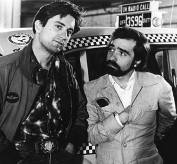 "Martin Scorsese and Robert De Niro making ""Taxi Driver."""