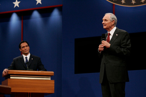 """Jimmy Smits and Alan Alda in """"The West Wing."""""""