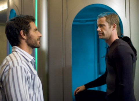 "EUREKA -- ""Noches de Suenos"" -- Pictured: (l-r) Ed Quinn as Nathan Stark, Colin Ferguson as Jack Carter -- SCI FI Channel Photo: James Dittiger"