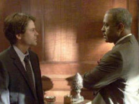 """Rob Lowe and James Pickens, Jr. in """"The Lyon's Den."""""""