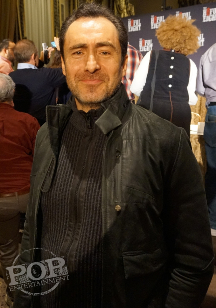 """Demian Bichir at the New York Press Conference for """"The Hateful Eight."""" Photo copyright 2015 Brad Balfour."""