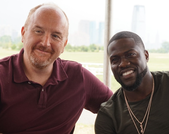 "Louis CK & Kevin Hart at the press day for ""The Secret Life of Pets."""