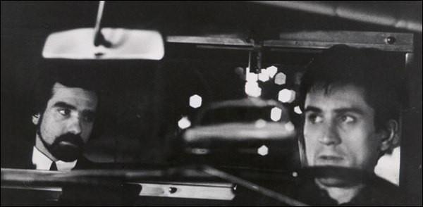"Martin Scorsese and Robert De Niro in ""Taxi Driver."""