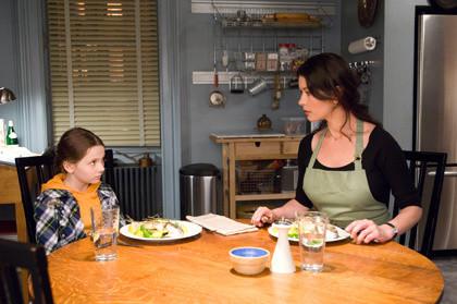 "Abigail Breslin and Catherine Zeta-Jones star in ""No Reservations."""