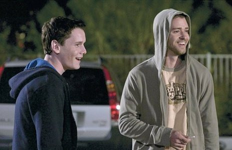"Anton Yelchin and Justin Timberlake star in ""Alpha Dog."""