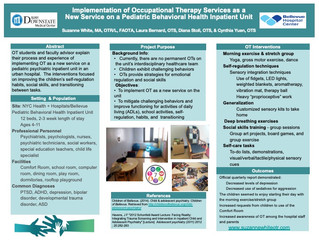 Implementation of Occupational Therapy Services As A New Service On A Pediatric Behavioral Health Un