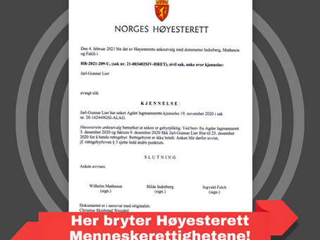 EVENTYRFORTELLING FRA HØYESTERETT