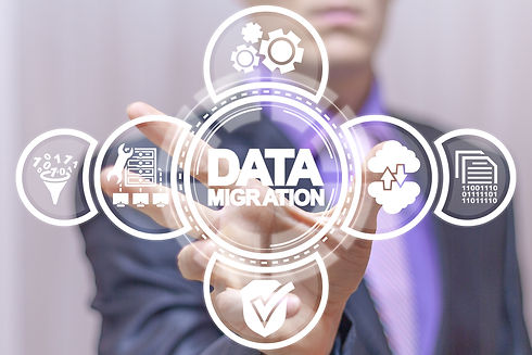 Data Migration concept. Web Information