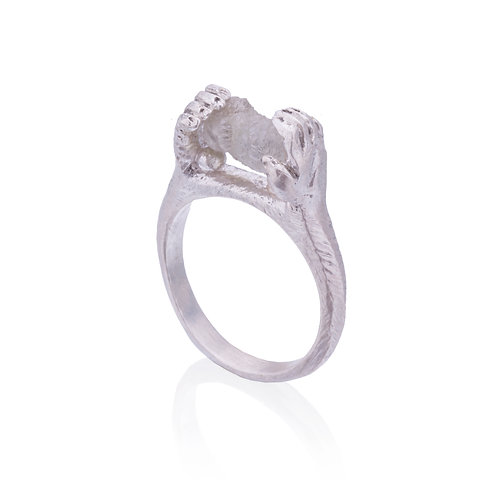 Contact Ring with Raw Diamond