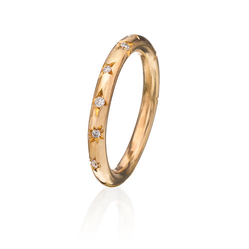 Gold Little Prince Ring w/ Diamonds