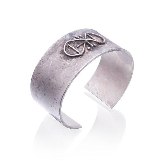 Silver Axe Symbol Bracelet