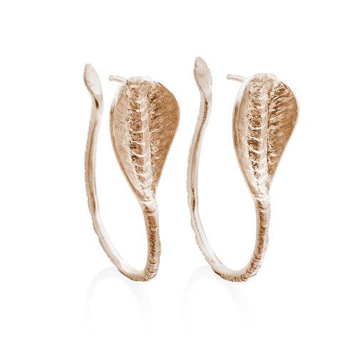 Gold Cobra Earrings