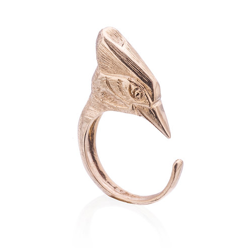 Gold Woodpecker Ring