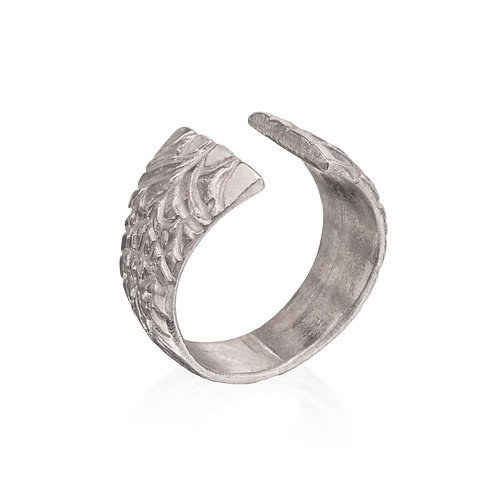 Silver Open Wing Ring