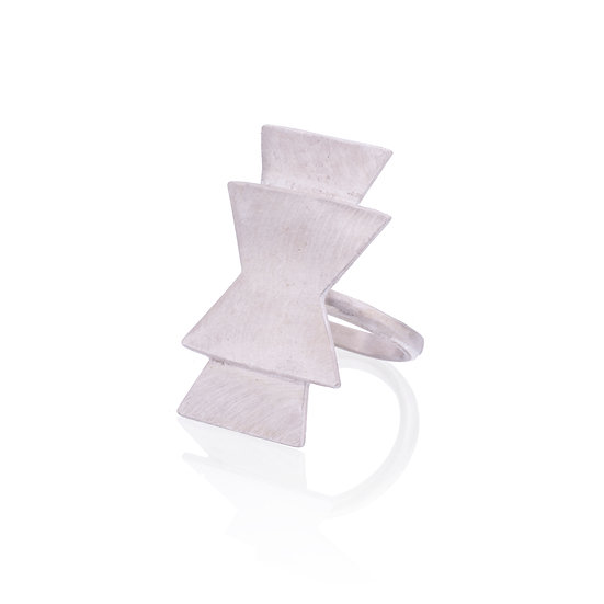 Silver Seed Symbol Ring