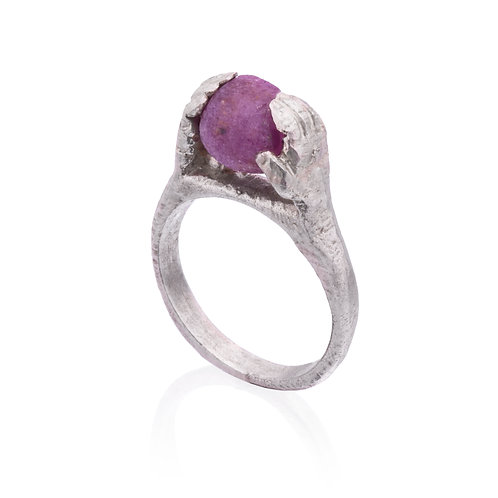 Contact Ring with Rough Ruby