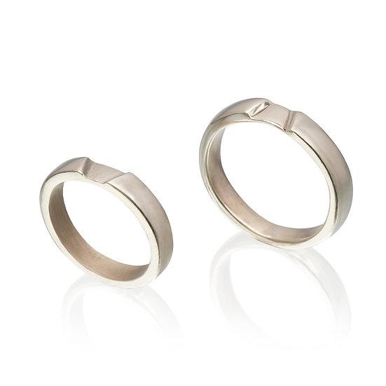 Heart Chakra Wedding rings