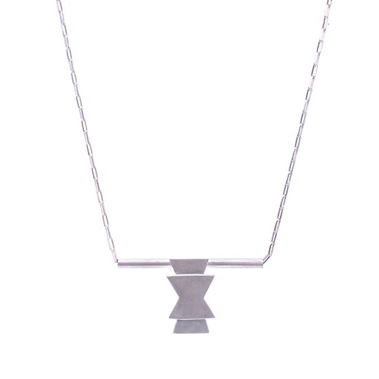 Silver Seed Symbol Necklace