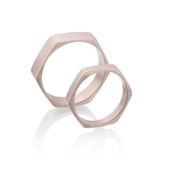 Pentagon Wedding Rings