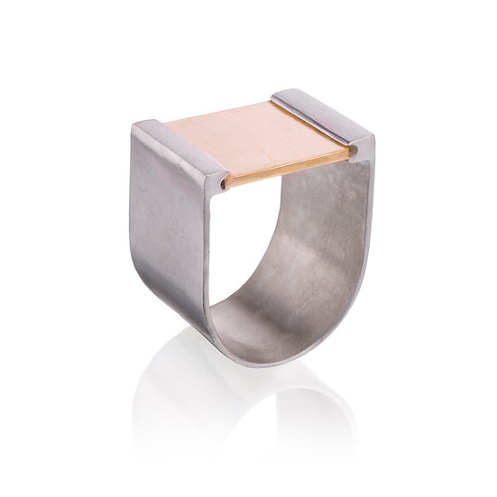 Gold Plateau Ring