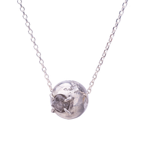 Sphere Rough Diamond Necklace