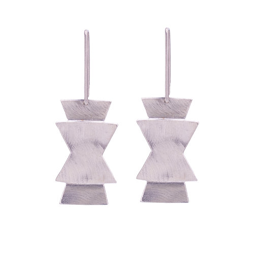 Silver Seed Symbol Earring