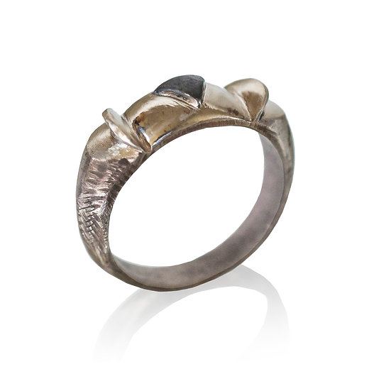 14k White Gold Game of Thrones Ring