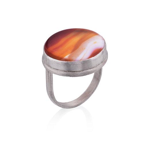 Sunset Carnelian Ring