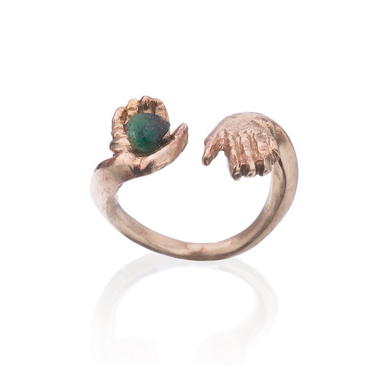 Emerald & Gold Participation Ring