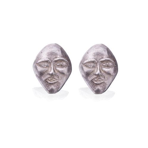 Silver Face #1 Earrings