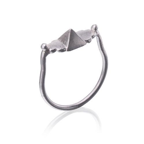 Silver Pyramid Ring