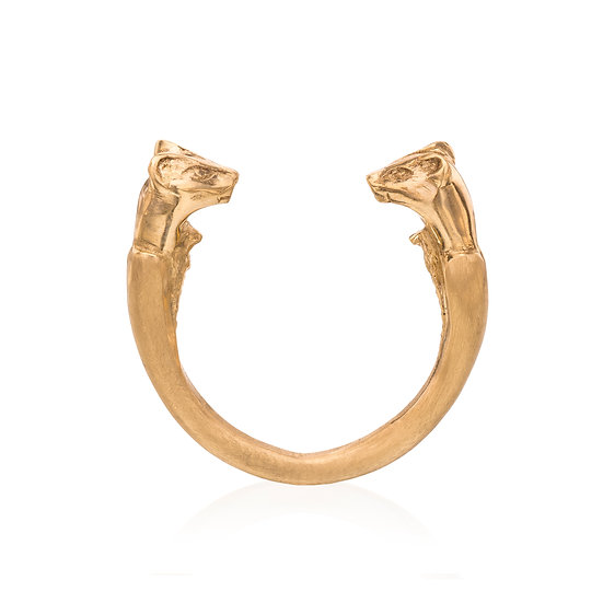 Gold Wild Cats Ring
