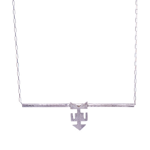 Silver Anchor Symbol Necklace