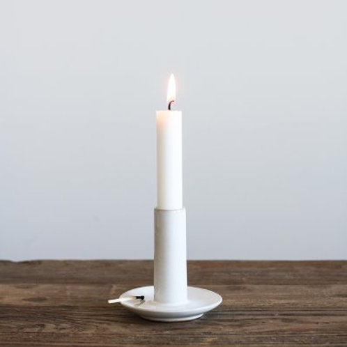 Candle Holder Lou White Tell Me More Studio Nordic Sitges Barcelona Design