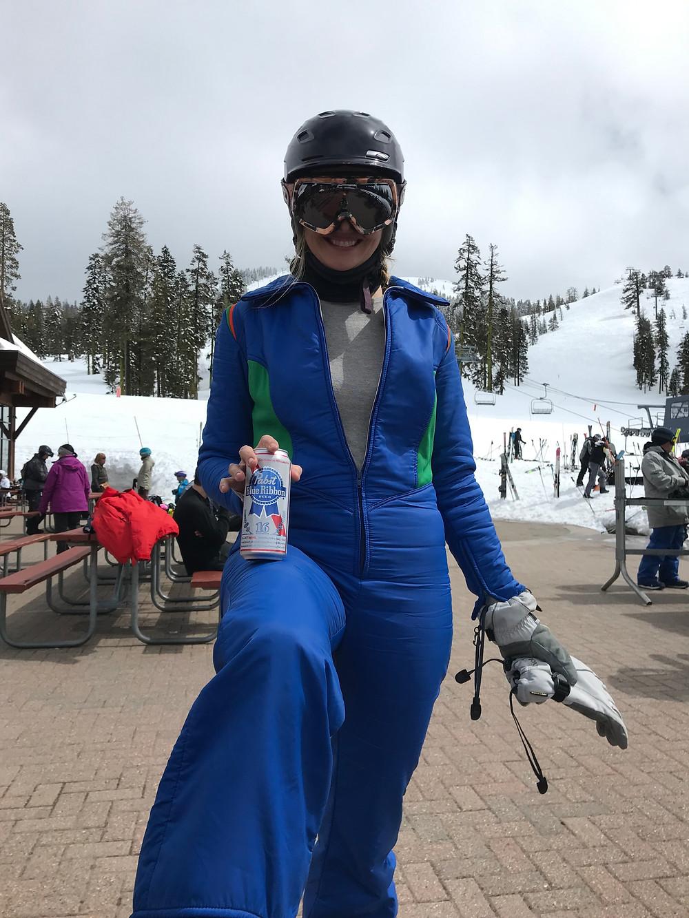circa 1973 ski suit