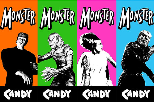 Monster Candy Poster Set