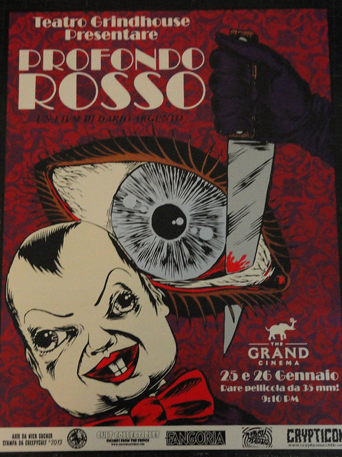 Deep Red Poster (Limited Edition Dario Argento)