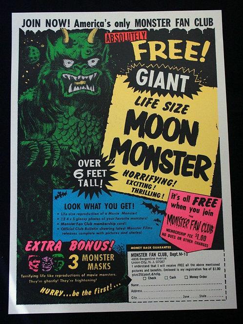 Life Size Moon Monster Poster (Vintage Comics)