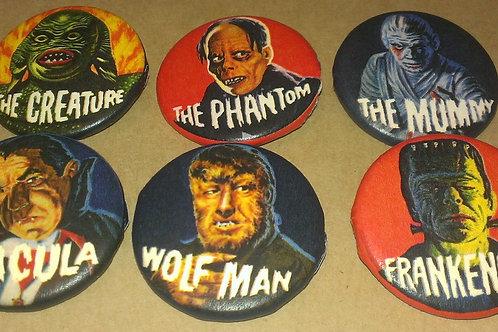 Elwar Button Set (8 1.25 inch Monster buttons)