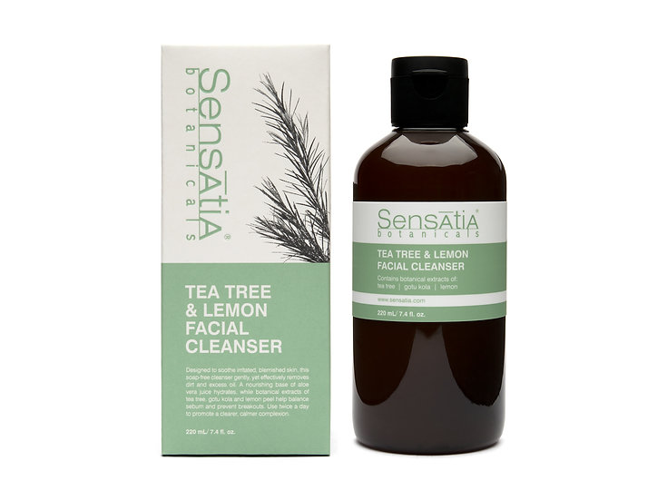 Tea Tree & Lemon facial cleanser