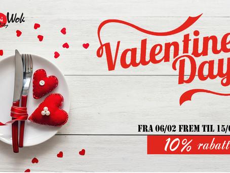 Sushi City Wok - Valentines Day 10% rabatt