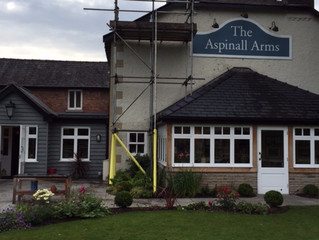Work recently completed at The Aspinall Arms, Mitton Clitheroe