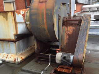 Removal of large extractor unit!