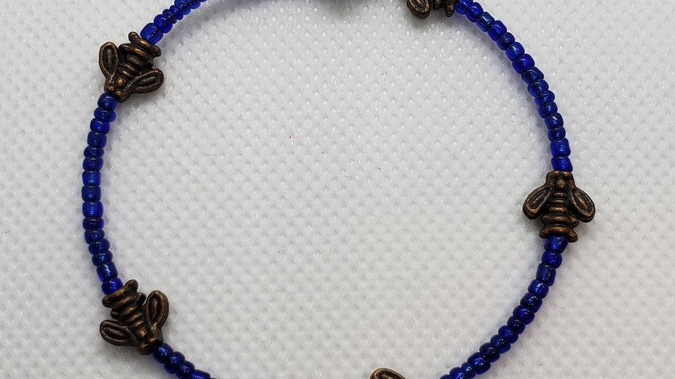 Bee Memory Wire Bracelet