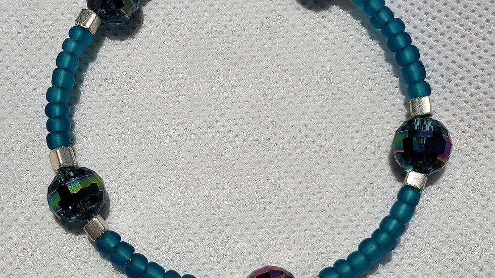 Aqua Memory Wire Bracelet