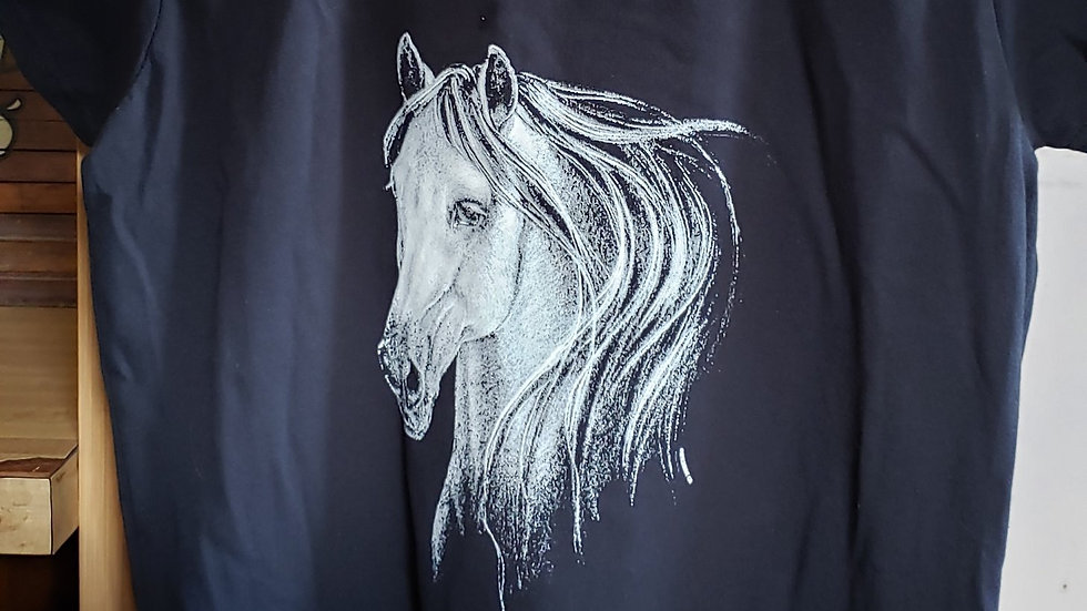 White Horse Head T-Shirt